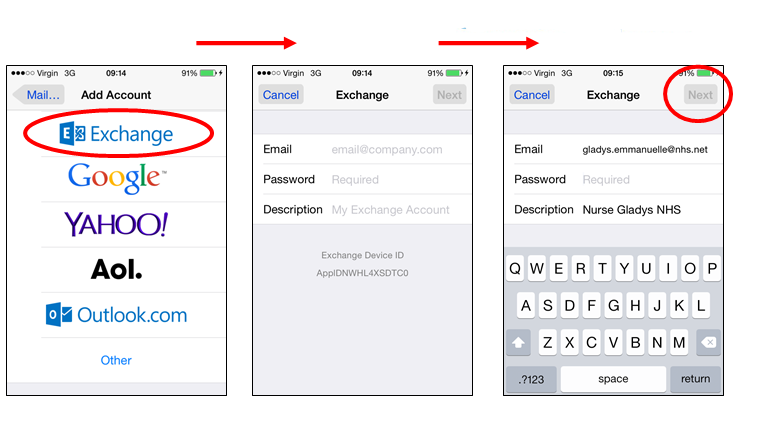 problem synchronisation iphone outlook